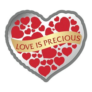 MMTC-PAMP Love Is Precious (Valentine Heart shaped) (999.9) 20 gm Silver Gifting Coin