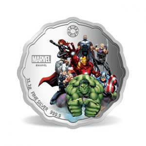 MMTC-PAMP Marvel Avengers Power Colored 31.1 gm Silver (999.9) Coin