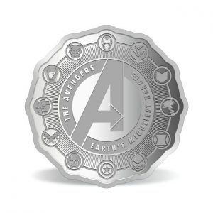 MMTC-PAMP Marvel Avengers Power Colored 31.1 gm Silver (999.9) Coin Back