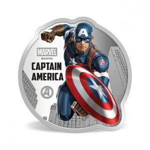 MMTC-PAMP Marvel Captain America Colored 31.1 gm Silver (999.9) Coin
