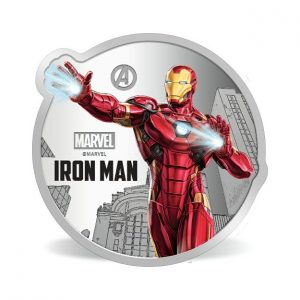 MMTC-PAMP Marvel Iron Man Colored 31.1 gm Silver (999.9) Coin