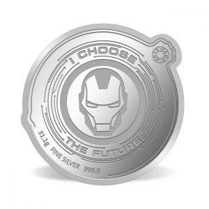 MMTC-PAMP Marvel Iron Man Colored 31.1 gm Silver (999.9) Coin Back