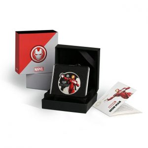 MMTC-PAMP Marvel Iron Man Colored 31.1 gm Silver (999.9) Coin Box