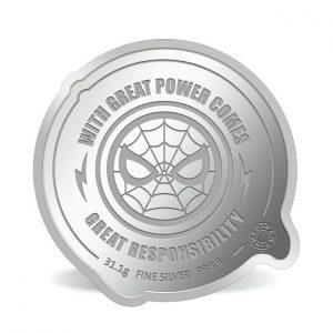 MMTC-PAMP Marvel Spider Man Colored 31.1 gm Silver (999.9) Coin Back