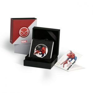 MMTC-PAMP Marvel Spider Man Colored 31.1 gm Silver (999.9) Coin Box