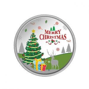 MMTC-PAMP Merry Christmas (999.9) 20 gm Silver Coin