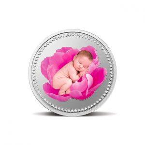 MMTC-PAMP Newborn Baby 10 gm Silver (999.9) Coin Pink