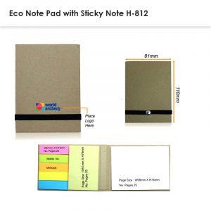 Eco Sticky Note Pad Model H-812