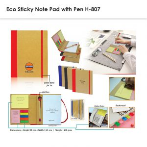 Eco Sticky Note Pad with Pen 807