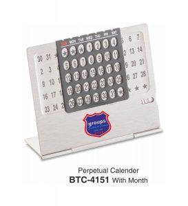 Desktop Perpetual Metal Calendar With - BTC-4151