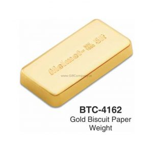 Gold Biscuit Bar Paper Weight BTC-4162