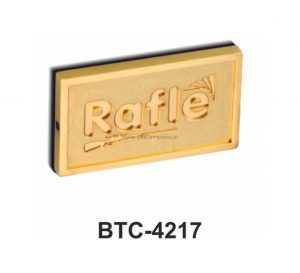 Rectangle Gold Paper Weight - BTC-4217