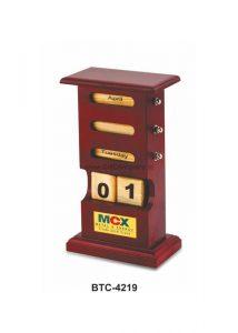 Wooden Perpetual Lifetime Calendar - BTC-4219