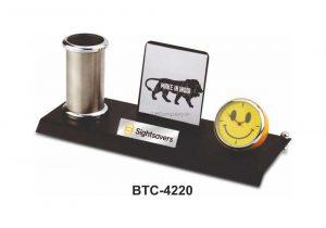 Desktop Mobile & Pen Holder with Clock - BTC-4220