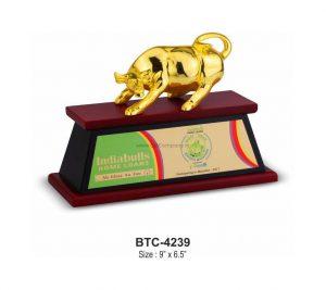 Stock Market Bull Desktop Gifts Trophy Memento - BTC-4239