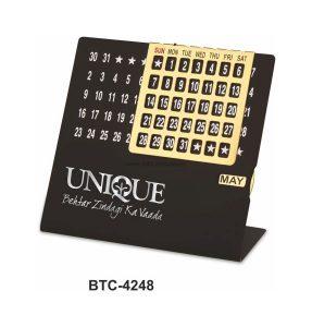 Desktop Perpetual Metal Calendar - BTC-4248G