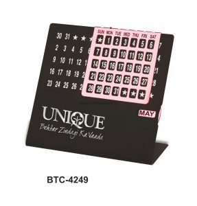 Desktop Perpetual Metal Calendar - BTC-4249B