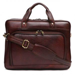 Nizami Leather Laptop & Office Bag - LBSI-1