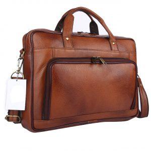 Nizami Leather Laptop & Office Bag - LBSI-3