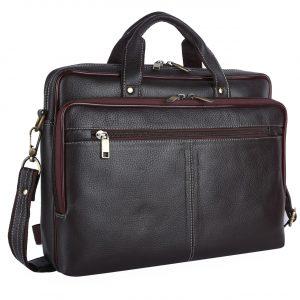Nizami Leather Laptop & Office Bag - LBSI-4