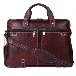 Nizami Leather Laptop & Office Bag - LBSI-6