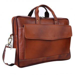 Nizami Leather Laptop & Office Bag - LBSI-7