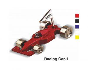 Racing Car with Flag Desktop Gift - 1